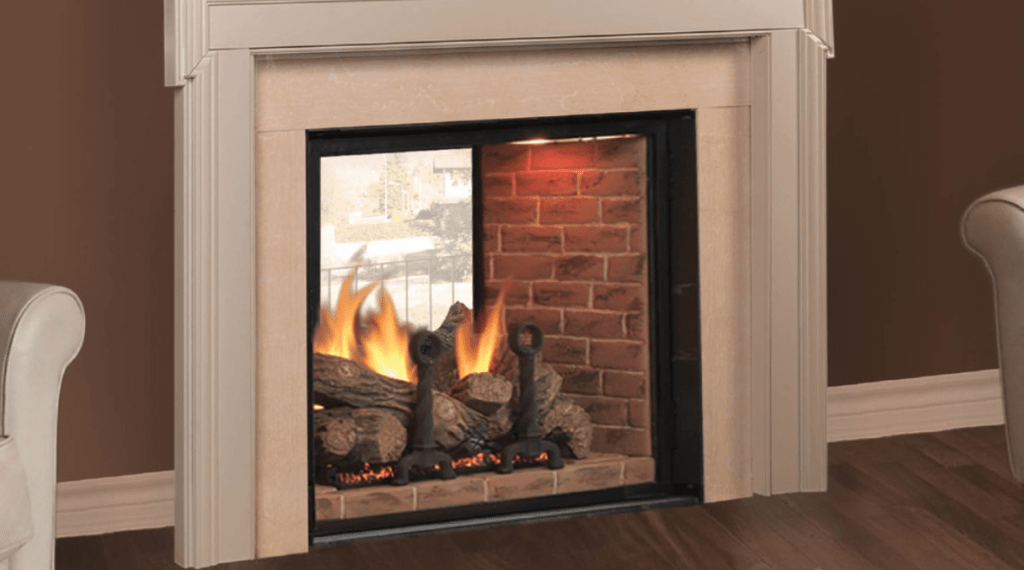 dual room fireplaces
